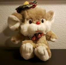 """New listing Commonwealth Mouse Plush Hat Tie 1991 9"""" Tall Stuffed Animal toy"""