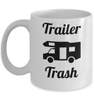 Camping mug - Trailer Trash - Funny caravan campers RV cup gift for husband wife