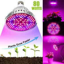 E27 80W Pflanzenlampe LED Wachsen Licht für Pflanze Full Spectrum Grow Light DE