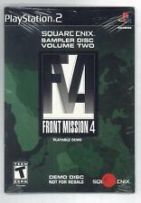 FRONT MISSION 4 PLAYABLE VOLUME TWO DEMO DEMO DISC SONY PS2 OTTIMO USATO PAL