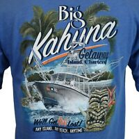 Men's T-shirt Island Big Kahuna Tiki Summer Cruise Ocean Blue Tee M L XL 2XL NEW