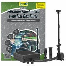 Tetra Pond Filtration Fountain Kit with Submersible Flat Box Filter Fk5 - 325 Gp