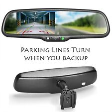 """Master Tailgaters OEM Rear View Mirror with 4.3"""" LCD and DYNAMIC Parking Lines"""