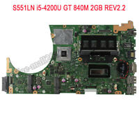 For Asus S551LB S551LN i5-4200U  Motherboard GT 840M with 2GB REV2.2 Mainboard