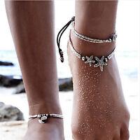 Summer Boho Starfish Anklet Vintage Ankle Bracelet Women Buddha Foot Jewelry JT
