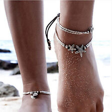 Summer Boho Starfish Anklet Vintage Ankle Bracelet Women Buddha Foot Jewelry S&K