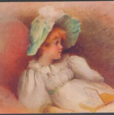 Beautiful Girl Reading Outdoors by Leon Comerre Woman Book 8x10 Print 1438