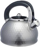 67 fl oz Black Kitchen Craft KCEKETBLK Kitchencraft Enamelled Whistling Kettle for Hob Induction 2 Litre