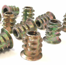 Insert Nut Fixing Type D M6 x 13MM Threaded  Drive Wood Screw Pack Of 20