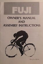 Fuji Bicycle Owners Manual Factory Issue 1977 Nichibei Fuji 36 pages