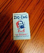 ANCIEN paquet FEUILLE DE CIGARETTE papier Rolling Papers ZIG ZAG smocking TABAC