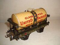 """Bassett Lowke""""O""""- GWR Milk Tank Wagon-United Dairies(2007)-good/undamaged c1936"""