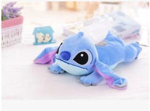 cute blue stitch lying  plush tissue box holder cover L148 decorate