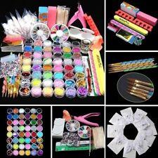 Acrylic Manicure Tool Nail Art Tips Set False Nail Kit 48 Pots Powder Glitters