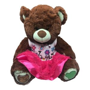 Build a Bear Girls Scout Thin Mint Brown Teddy Bear Plush Dressed Retired