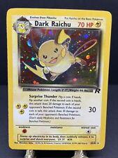 Pokemon TCG English Team Rocket Dark Raichu 83/82 Secret Holo Rare Swirl