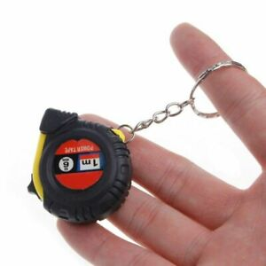 Measure Tape Keychain Roulette Retractable Measuring Tool Construction Instument