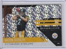 MASON RUDOLPH RC #210 FLIGHT REFRACTOR STEELERS 2018 PANINI UNPARALLELED