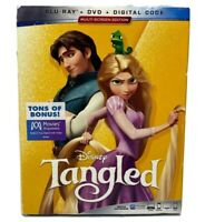 Tangled Blu-ray DVD And Digital With Slipcover Factory Sealed