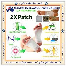 2 X Detox Foot Pads Patch Natural plant Toxin Removal Detoxify Fit Health Care +