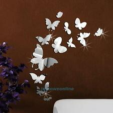 Removable Crystal Acrylic Mirror Butterfly Wall DIY Stickers Living Room Decor
