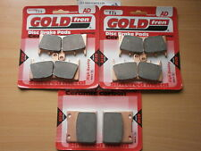 SUZUKI GSF 1200 BANDIT (6 Pot caliper) FRONT & REAR BRAKE PADS / FA188HH FA063HH