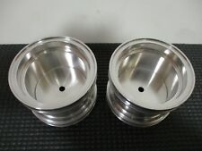 Deep Dish Aluminum 2.2 Wheels Rims (2pc) 12mm Hex Stealie Smoothie Hot Rod Wide