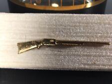 Vintage Pump Shotgun Tie Tac Pin Clasp Gold Hunter Outdoorsman Design Limited