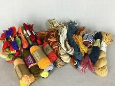 Mixed Needlepoint Crewel Wool Yarn Lot Tapestry Persian Assorted Brands Colors