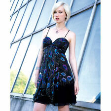 8054d8c78f4 Alberto Makali Embellished Stone Peacock Feather LOOK Silk Dress 10