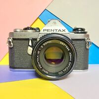 Pentax ME 35mm SLR Film Camera, Good Condition Working Order W 50mm Lens, Lomo