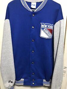 Vintage Men's Majestic New York Rangers Varsity Jacket Sweater Large Very Rare