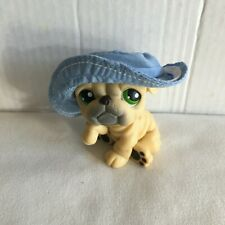Littlest Pet Shop Dog Bulldog 107 with Hat Accessory Authentic Lps