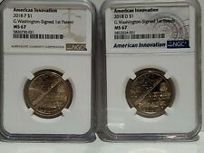 2018 P & D American Innovation - Washington Signed Dollar NGC MS-67