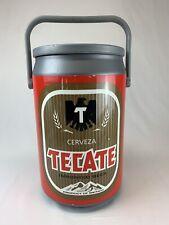 Vintage 90's Kooler Kraft Tecate Cerveza Beer Hard Plastic Cooler Tailgate Patio