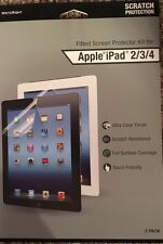 WriteRight Fitted Screen Protector Kit for Apple iPad 2/3/4 FREE SHIPPING