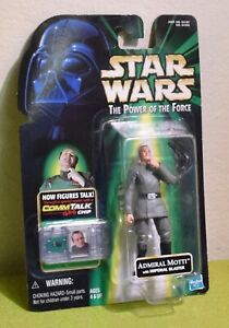 STAR WARS CARDED POWER OF THE FORCE GREEN CARD COMM TECH ADMIRAL MOTTI