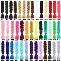 Synthetic Hair Extensions Party Cosplay Jumbo Braid Ombre Crochet Braids 24inch