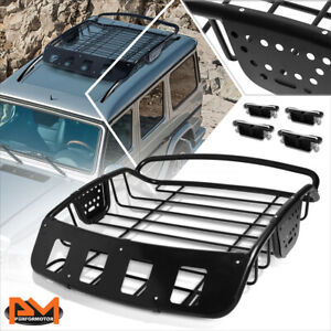 Universal Powdercoated Clamp-On Roof Rack Crossbars Cargo Basket Luggage Carrier