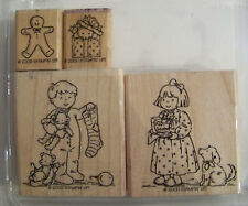 Stampin Up Night Before Christmas Missing 2 great set boy girl stocking gift