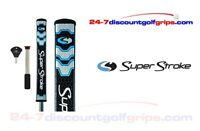 Superstroke Flatso 2.0 putter grip with counter core - Midnight Blue - FREE TAPE