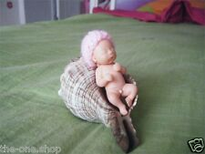 New Hand-made High Quality Reborn Baby Boy Doll Miniature, Newborn 6 cm