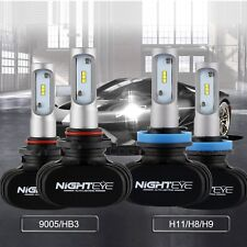 Combo H11/H8/H9 9005/HB3 LED Total 100W 16000LM Headlight High Low Beam Bulbs
