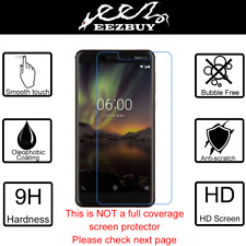Premium Real Tempered Glass Screen Protector Cover Film Guard For Nokia 6 (2018)