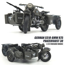 GERMAN SS18-BMW R75 Panzerfaust 30 1/24 Motorcycle model finished ATLAS