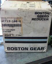NIB Boston Gear WC713-100-G 100:1 Speed Reducer 52389 *A14*