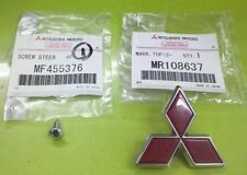 MITSUBISHI LANCER EVO 5 CP9A THREE DIAMOND BADGE EMBLEM MR108637 SCREW MF455376