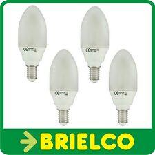 LAMPARA BOMBILLA BAJO CONSUMO FLUORESCENTE LUZ DIA VELA E14 7W 220V 4UDS BD4056