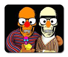 Bert & Ernie Skull Mouse Mat - Fantasy/Goth