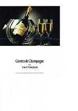 PUBLICITE ADVERTISING  1992   COMTES DE CHAMPAGNE   TAITTINGER